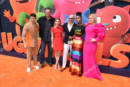 Nick Jonas, Blake Shelton, Emma Roberts, Pitbull, Janelle Monae, Kelly Clarkson