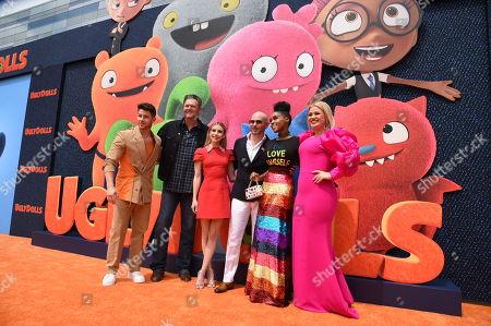 Stock Photo of Nick Jonas, Blake Shelton, Emma Roberts, Pitbull, Janelle Monae, Kelly Clarkson