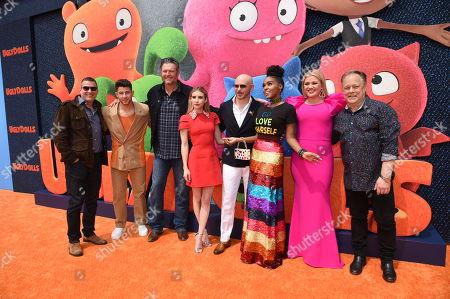 Stock Image of Oren Aviv, Producer, Nick Jonas, Blake Shelton, Emma Roberts, Pitbull, Janelle Monae, Kelly Clarkson, Kelly Asbury, Director,