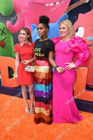 Emma Roberts, Janelle Monae, Kelly Clarkson