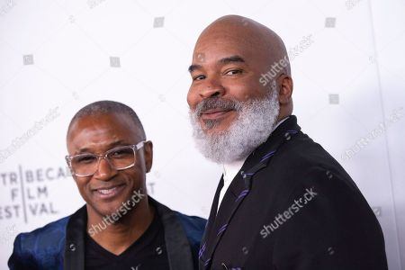 """Tommy Davidson, David Alan Grier. Actors/comedians Tommy Davidson, left, and David Alan Grier attend the screening for """"Tribeca TV : In Living Color - 25th Anniversary reunion from the finale"""" during the 2019 Tribeca Film Festival at Spring Studios, in New York"""