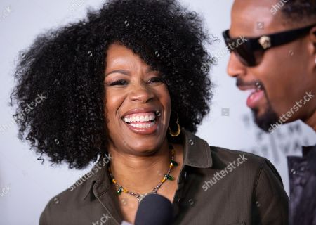 "Stock Image of Kim Wayans, Shawn Wayans. Actors/comedians Kim Wayans left, and Shawn Wayans attend the screening for ""Tribeca TV : In Living Color - 25th Anniversary reunion from the finale"" during the 2019 Tribeca Film Festival at Spring Studios, in New York"