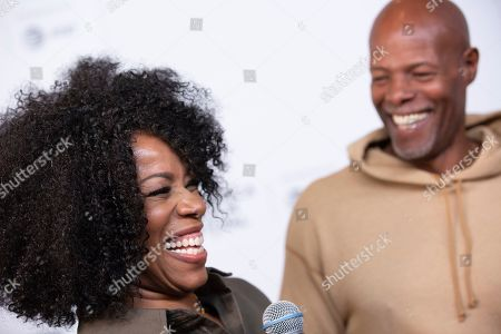 "Kim Wayans, Keenan Ivory Wayans. Actors/comedians Kim Wayans left, and Keenan Ivory Wayans attend the screening for ""Tribeca TV : In Living Color - 25th Anniversary reunion from the finale"" during the 2019 Tribeca Film Festival at Spring Studios, in New York"