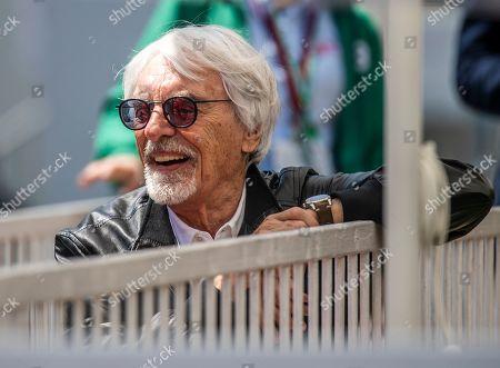Former Formula One chairman Bernie Ecclestone at the Baku City Circuit prior to 2019 Formula One Grand Prix of Azerbaijan in Baku, Azerbaijan, 28 April 2019.