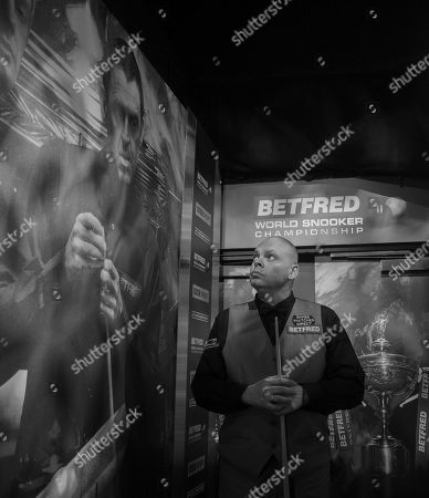 Stock Image of Stuart Bingham of England waits backstage before his second round match