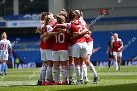Brighton Hove Albion Women v Arsenal Women Stock Photos ...