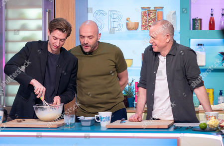 Arthur Darvill, Simon Rimmer and Tim Lovejoy