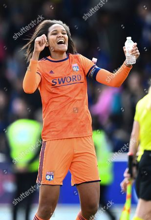 Wendie Reynard of Lyon celebrates at full time