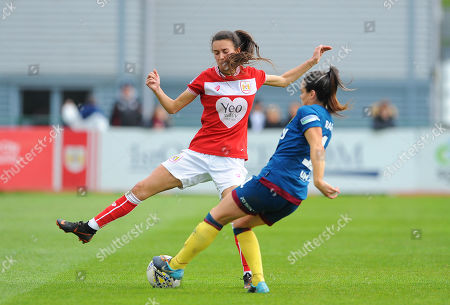 Rosella Ayane of Bristol City competes with Claire Rafferty- Mandatory by-line: Nizaam Jones/JMP