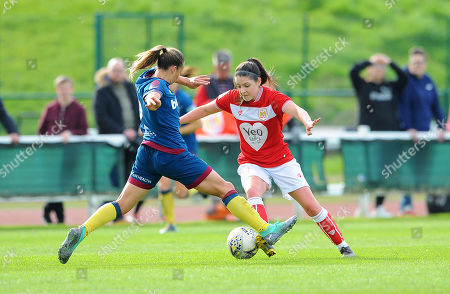 Stock Picture of Ria Percival tackles Carla Humphrey of Bristol City- Mandatory by-line: Nizaam Jones/JMP