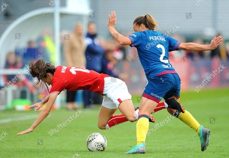 Rosella Ayane of Bristol City is fouled by Ria Percival- Mandatory by-line: Nizaam Jones/JMP