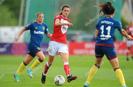Stock Image of Rosella Ayane of Bristol City tries to get past Claire Rafferty- Mandatory by-line: Nizaam Jones/JMP