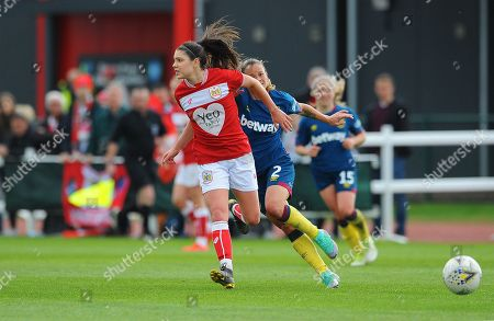 Editorial photo of Bristol City Women v West Ham United Women, UK - 28 Apr 2019