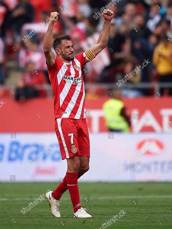 Cristhian Stuani of Girona FC celebrates the victory after finishing the match