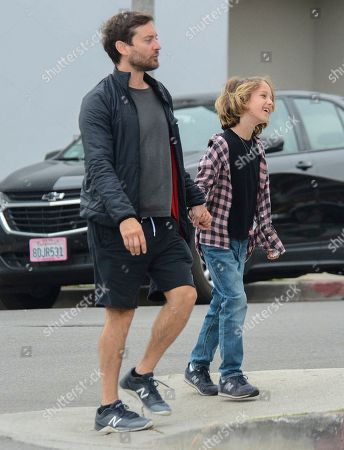 Tobey Maguire and Otis Maguire