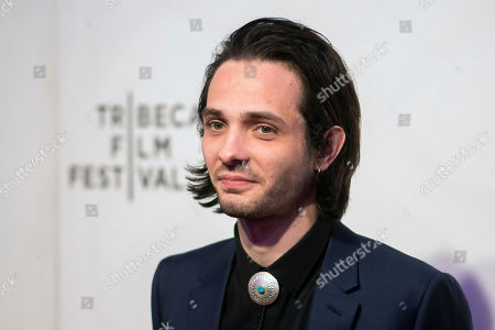 """Miles Joris-Peyrafitte attends the screening for """"Dreamland"""" during the 2019 Tribeca Film Festival at the BMCC, in New York"""