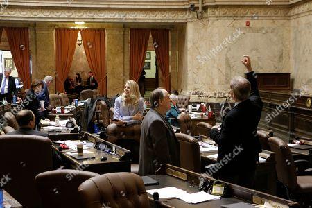 Editorial photo of Washington Legislature, Olympia, USA - 28 Apr 2019
