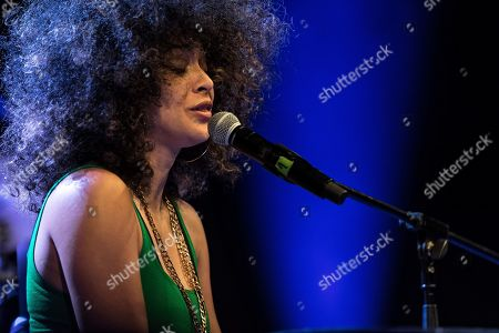 American singer and pianist Kandace Springs performs on the stage during the 55th 'Jazz nad Odra Festival' in Wroclaw, Poland 28 Aprill 2019.