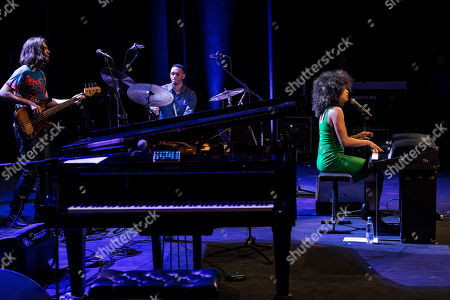 Stock Photo of American singer and pianist Kandace Springs performs on the stage during the 55th 'Jazz nad Odra Festival' in Wroclaw, Poland 28 Aprill 2019.