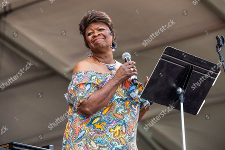 Stock Photo of Irma Thomas performs at the New Orleans Jazz and Heritage Festival, in New Orleans