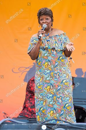 Irma Thomas performs at the New Orleans Jazz and Heritage Festival, in New Orleans