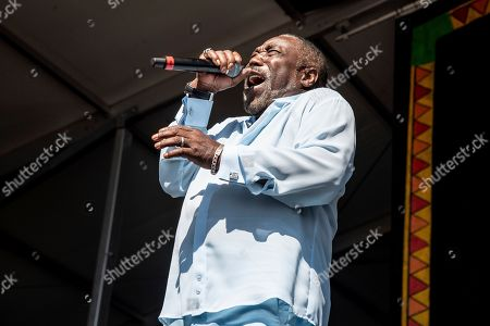 Stock Image of Eddie Levert of The O'Jays performs at the New Orleans Jazz and Heritage Festival, in New Orleans