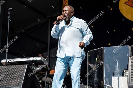 Stock Photo of Eddie Levert of The O'Jays performs at the New Orleans Jazz and Heritage Festival, in New Orleans