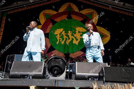 Eric Grant, Walter Williams. Eric Grant, left, and Walter Williams of The O'Jays perform at the New Orleans Jazz and Heritage Festival, in New Orleans