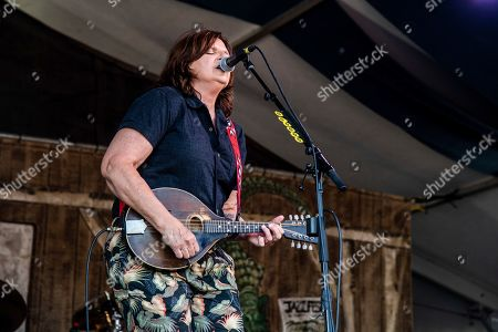 Amy Ray of Indigo Girls performs at the New Orleans Jazz and Heritage Festival, in New Orleans
