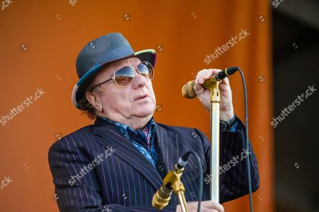 Van Morrison performs at the New Orleans Jazz and Heritage Festival, in New Orleans