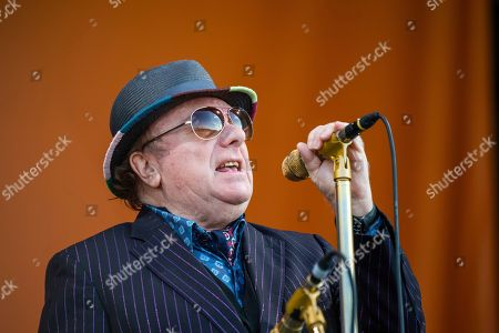 Stock Photo of Van Morrison performs at the New Orleans Jazz and Heritage Festival, in New Orleans