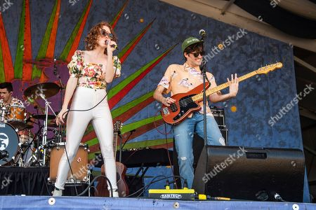 Stock Photo of Nora Patterson, Joshua Wells. Nora Patterson, left, and Joshua Wells of Royal Teeth perform at the New Orleans Jazz and Heritage Festival, in New Orleans