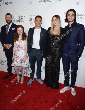 Brad Feinstein, Darby Camp, Finn Cole, Margot Robbie and Miles Joris-Peyrafitte