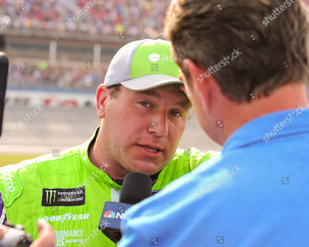 Ryan Newman, driver of the Acorns Ford (6), during a post race TV interview, at the Geico 500 at Talladega Super Speedway in Talladega, AL. Kevin Langley/Sports South Media/CSM