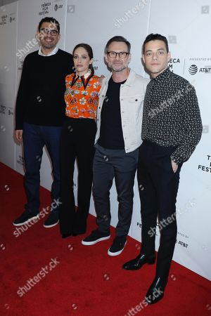 Sam Esmail, Carly Chaikin, Christian Slater and Rami Malek
