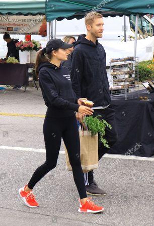 Aarika Wolf and Calvin Harris at Farmer's Market
