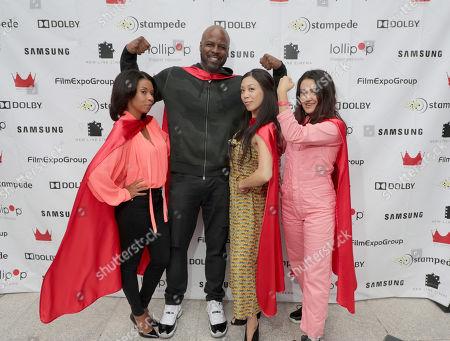 Angel Parker, Ryan Sands, Brittany Ishibashi and Ariela Barer