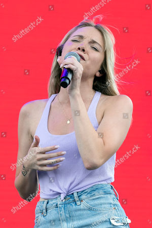 Unite States singer Danielle Bradbery performs on stage during the Stagecoach Festival in Indio near Palm Spring, California, USA, 28 April 2019. The festival runs from 26 to 28 April 2019.