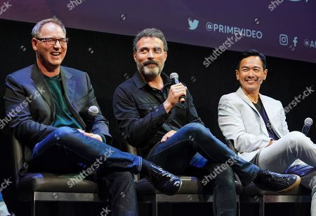 Stock Photo of Daniel Percival, Rufus Sewell and Joel De La Fuente
