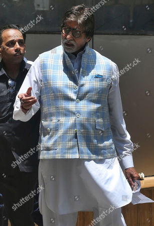 Stock Picture of Bollywood star Amitabh Bachchan arrives to cast his vote at a polling station in Mumbai, India, . Indians were voting Monday in the fourth phase of a staggered national election, with Prime Minister Narendra Modi's Hindu nationalist party facing a major test as it looks to govern for another five years