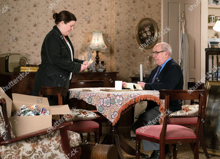 Ep 9765 Wednesday 8th May 2019 - 2nd Ep Mary Taylor, as played by Patti Clare, angrily confronts Norris Cole, as played by Malcolm Hebden, and accuses him of standing in the way of her happiness when she could have been married to Brendan by now. Telling Norris she never wants to clap eyes on him again, she strides out.