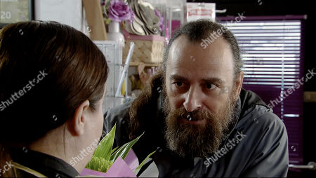 Ep 9756 Monday 29th April 2019 - 1st Ep Jan, as played by Piotr Baumann, calls in the flower shop and buys an expensive bouquet which he presents to Mary Taylor, as played by Patti Clare, telling her he's truly sorry for causing her injury. Mary starts to thaw towards him.