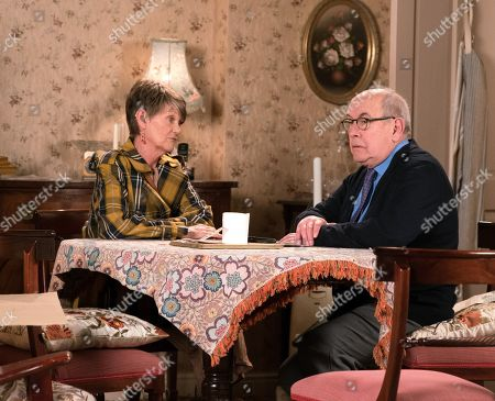 Ep 9767 Friday 10th May 2019 - 2nd Ep Norris Cole, as played by Malcolm Hebden, assures Mary that he didn't want Brendan to hurt her again and he was looking out for her as a friend. Freda, as played by Ali Briggs, is furious, realising Mary means more to him than she does.