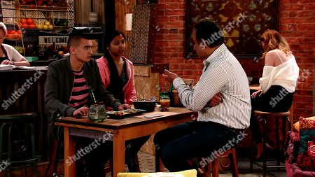 Ep 9763 Monday 6th May 2019 -2nd Ep Dev Alahan, as played by Jimmi Harkishin, takes a call from Ash Alahan's, as played by Tanisha Gorey, form teacher which leaves him perplexed. Aadi warns Asha she's going to be in serious trouble when Dev finds out how badly she's done in their school test.