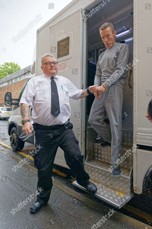 Jason Shaun Farrell arrives at Swansea Magistrates Court charged with murder