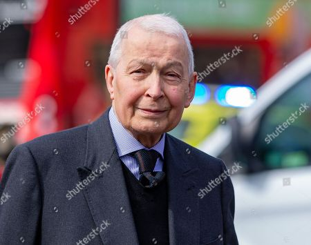 Stock Image of Labour MP, Frank Field arrives at Parliament.