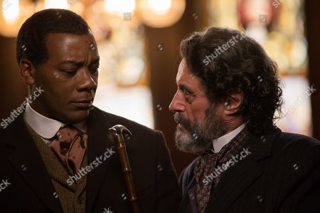 Erik LaRay Harvey as Bartley and Ian McShane as Judge Perry