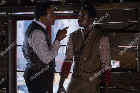 Erik LaRay Harvey as Bartley and Gary Carr as Buddy Bolden