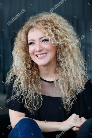 """Panamanian singer and songwriter Erika Ender speaks during an interview with The Associated Press in Miami. Even though Ender shot to fame after writing the mega-hit """"Despacito"""" with Luis Fonsi, she already had a prolific 20-year career"""