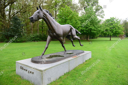 GILLTOWN STUD. Statue of SHERGAR at the County Kildare Stud.